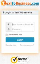 Login To TextToBusiness.com Mobile App